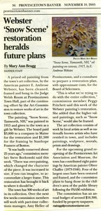 """E. Ambrose Webster's """"Snow Scene"""" article from Provincetown Banner"""