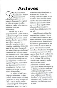 PAAM Archives Article - 1998