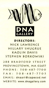DNA Gallery business card