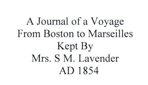A Journal of a Voyage