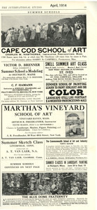 Cape Cod School of Art/Webster Schools - 1914