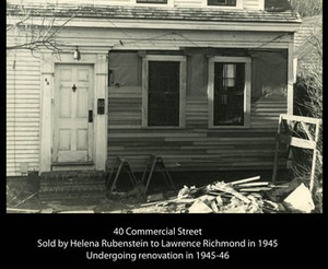 Lawrence Richmond's house - 40 Commercial Street