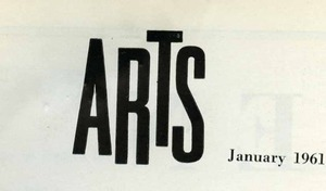 Arts January 1961, artist mentions
