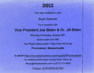 2012 Vice President Joe and Dr. Jill Biden Reception at Pilgrim Monument