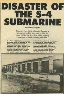 Disaster of the S-4 Submarine