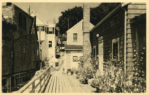 """Postcard Image of Blanche Lazzell Studio """"Provincetown Lane"""""""