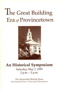 The Great Building Era of Provincetown