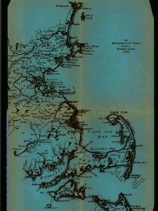 Map of Massachusetts coast in 1790