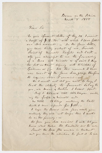August Krantz letter and invoice to unidentified recipient, 1854 March 3