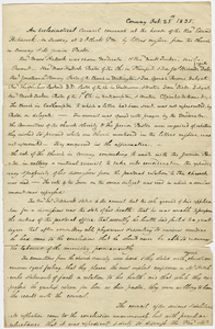 Minutes of an Ecclesiastical Council meeting, 1825 October 25