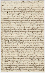 Letter from unidentified correspondent to Sarah Stebbins, 1833 September 5