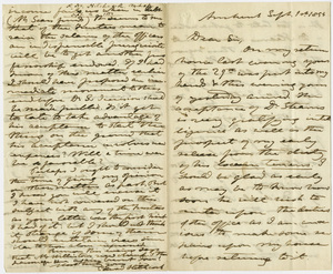 Edward Hitchcock letter to unidentified recipient, 1854 September 1