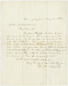 William Barton Rogers letter to Gideon Algernon Mantell, 1850 May 8