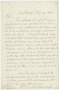 Benjamin Silliman, Jr. letter to William Augustus Stearns, 1864 February 29