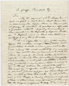 Edward Hitchcock and Charles H. Hitchcock letter to George Kendall, 1858 February 23