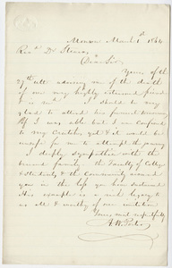 Andrew Wood Porter letter to William Augustus Stearns, 1864 March 1