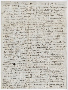 Benjamin Silliman letter to Edward Hitchcock, 1842 August 9