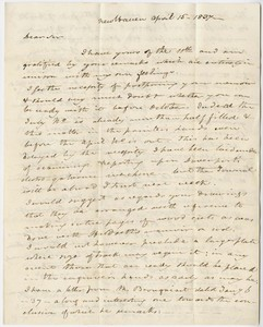 Benjamin Silliman letter to Edward Hitchcock, 1837 April 15
