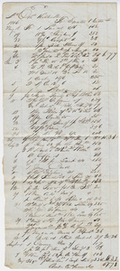 Edward Hitchcock account of purchases from Sweetser & Cutler, 1846 October 28
