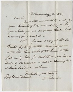 Benjamin Silliman letter to Edward Hitchcock, 1840 August 31