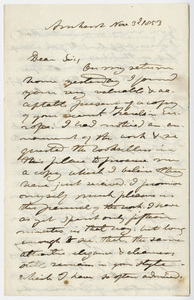 Edward Hitchcock letter to Benjamin Silliman, 1853 November 3