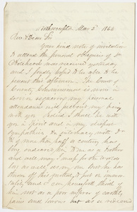 Samuel Wells letter to William Augustus Stearns, 1864 March 2