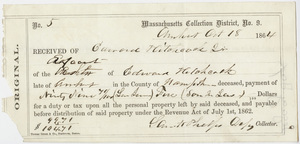 Receipt of tax payment