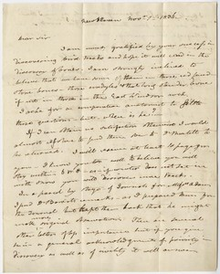 Benjamin Silliman letter to Edward Hitchcock, 1836 November 1