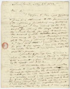 Edward Hitchcock letter to Benjamin Silliman, 1832 May 4