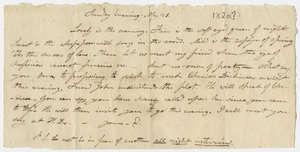 Edward Hitchcock letter to Orra White, 1820? May 21