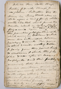 Edward Hitchcock geological survey notebook, 1830 October 1 to 1831 October 28