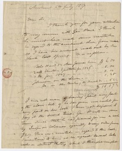 Edward Hitchcock letter to Sylvester Hovey, 1827 July 4