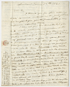 Edward Hitchcock letter to Benjamin Silliman, 1840 January 12