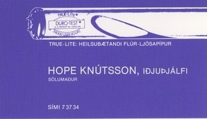 Hope Knútsson business card