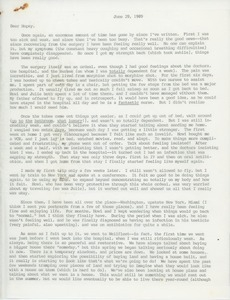 Letter from Judi Chamberlin to Hope Knútsson