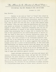 Letter from Diane W. Baran to sisters