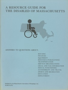A resource guide for the disabled of Massachusetts