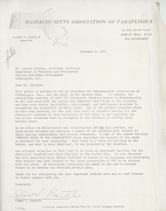 Letter from Elmer C. Bartels to Edward Britton