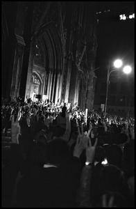 Candlelight march held in the streets outside St. Patrick's Cathedral, Vietnam Moratorium
