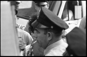 Abbie Hoffman getting arrested for wearing an American flag shirt