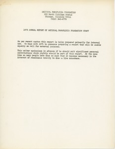 1973 annual report of National Paraplegia Foundation staff