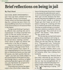 Brief reflections on being in jail