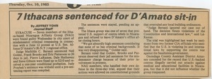 7 Ithacans sentenced for D'Amato sit-in