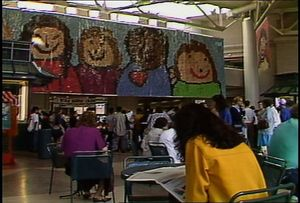 Mosaic of children's drawings