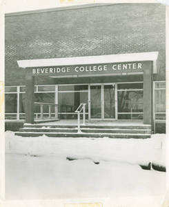 Beveridge Center Front Entrance Snow Scene