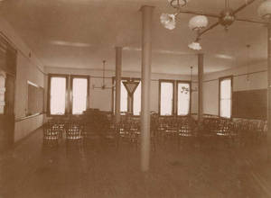 Interior of Alumni Hall room in the Administration Building