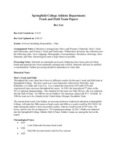Box List: Springfield College Track and Field Team Records