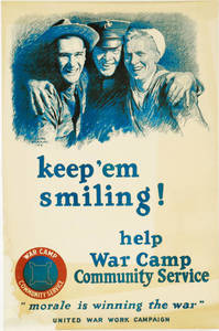 World War I Poster - Keep'em smiling!