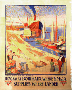 World War I Poster - Docks at Bordeaux