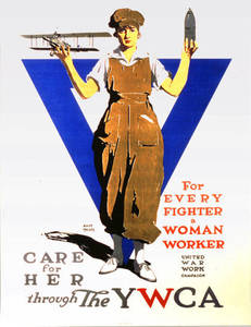 World War I Poster - For Every Fighter a Woman Worker